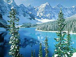 Фотообои для рабочего стола  Название фонового рисунка: Зимнее озеро окруженое лесом в горах